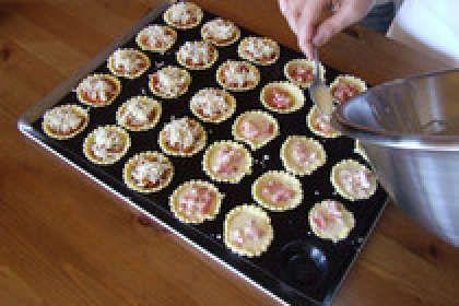 Mini-tartelettes apéritives