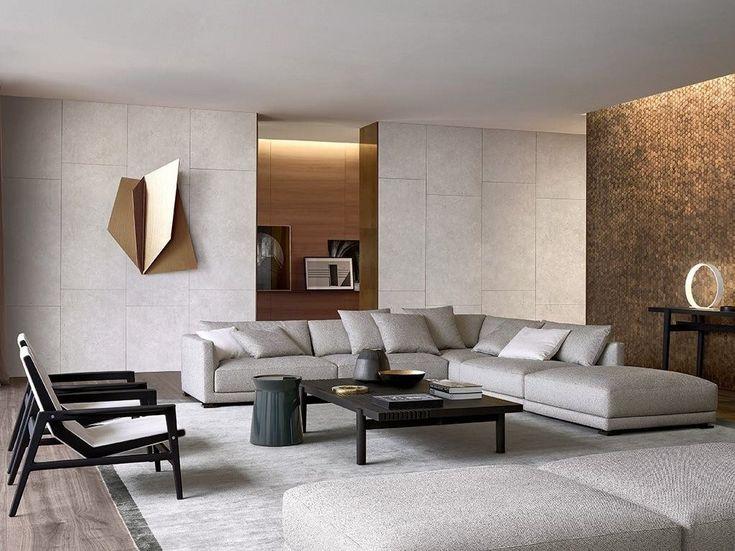 Canapé d'angle composable en tissu BRISTOL | Canapé d'angle - Poliform