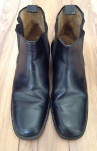 Mens Leather Riding Boots Manfield Britain Size 9 Mod Hipster | eBay