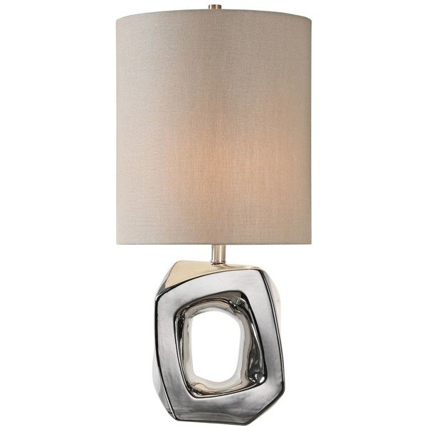 Uttermost Allira Polished Nickel Ceramic Buffet Table Lamp (620 PLN) ❤ liked on Polyvore featuring home, lighting, table lamps, polished nickel table lamp, uttermost buffet lamps, uttermost lighting, ceramic lamps and polished nickel lamp