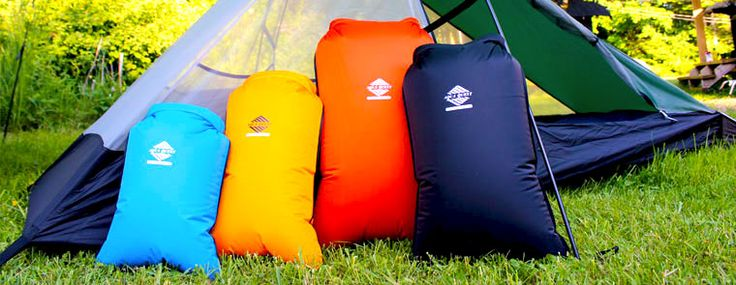 Coastal Sunset - 100% Waterproof 4 Piece Drybag Set. Different colors for each size bag make it easy to identify which bag you need, or which bag your stuff is in!