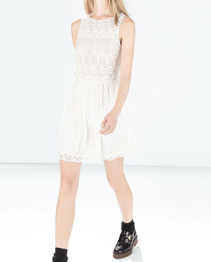 Image 3 of DRESS WITH CROCHET BODICE from Zara
