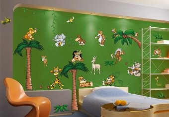 Crazy Jungle Pack - Awesome Giant Wall Decor Set