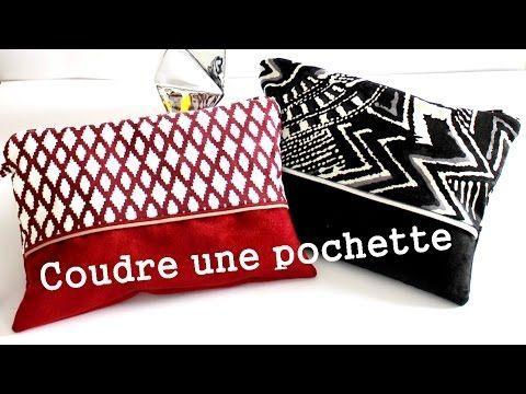 Pochette pour la rentré | Couture à la machine - YouTube