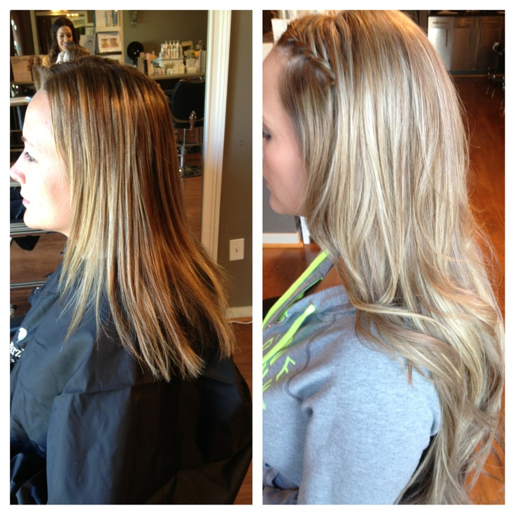 Gorgeous Multi Blonde Highlights And Full Extensions By