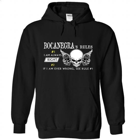 BOCANEGRA Rules - #first tee #t shirt ideas. SIMILAR ITEMS => https://www.sunfrog.com/Camping/1-Black-81044061-Hoodie.html?60505
