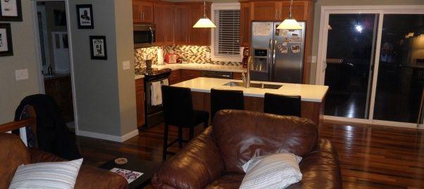Bi level kitchen renovation gotta love the split level for Bi level house remodel
