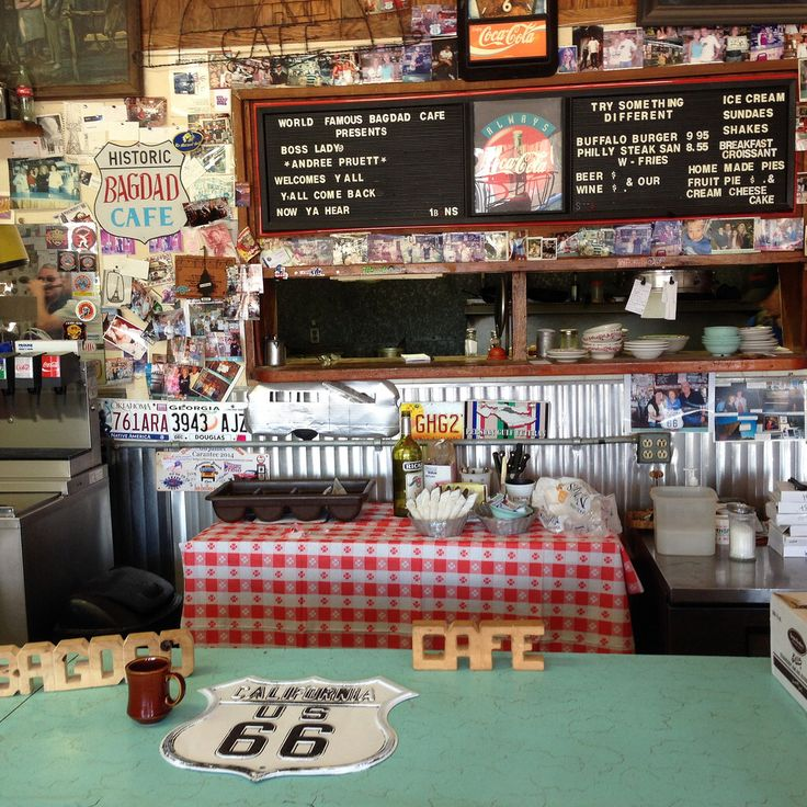 Bagdad Cafe  California Route 66. Newberry Springs.