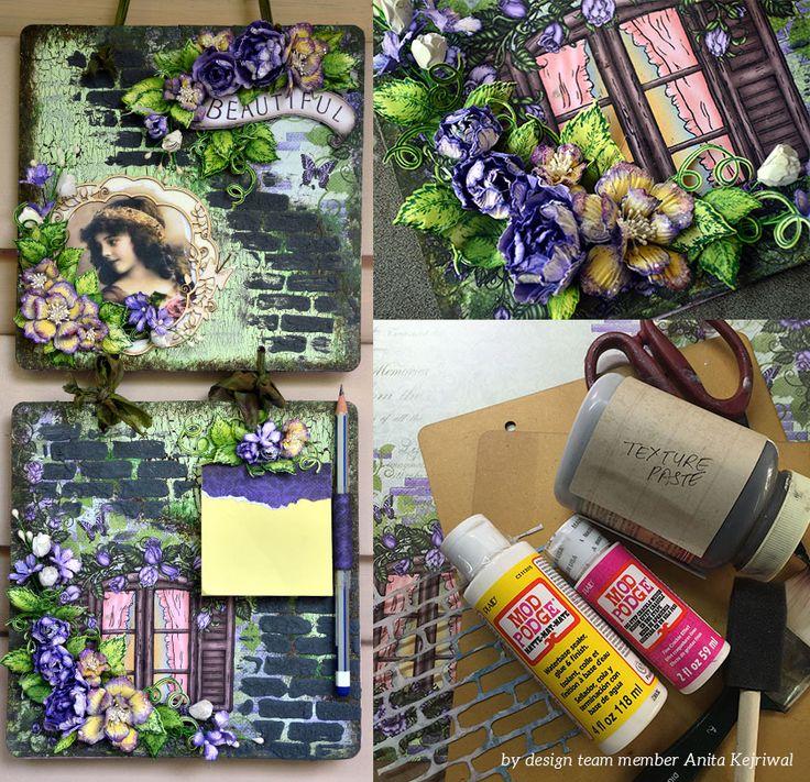 Decoupage Memo Pad Wall Decor Tutorial by Anita Kejriwal - Heartfelt Creations