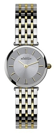 Michel Herbelin Ladies Silver Dial Two Tone Classic Bracelet Watch 1045/BT12
