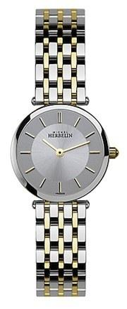 Michel Herbelin Ladies Silver Dial Two Tone Classic Bracelet Watch 1045/BT12
