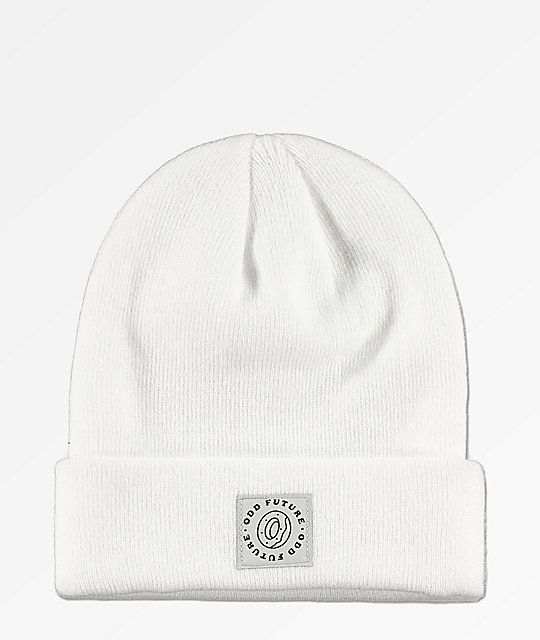 c4e0360d Odd Future Donut Patch White Fold Beanie in 2019 | Hats | Odd future ...
