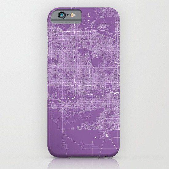 Phoenix Arizona Map 2 iphone case, smartphone