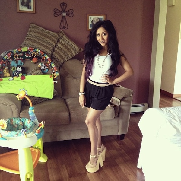 Nicole Snooki Polizzi - Mothers Day Outfit