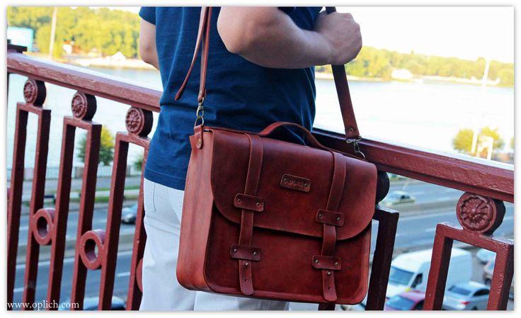 COGNAC BROWN Briefcase for Men - Work bag - Computer bag - Genuine full grain leather messenger bag - Free personalization by OplichLeatherGoods on Etsy https://www.etsy.com/listing/245456770/cognac-brown-briefcase-for-men-work-bag