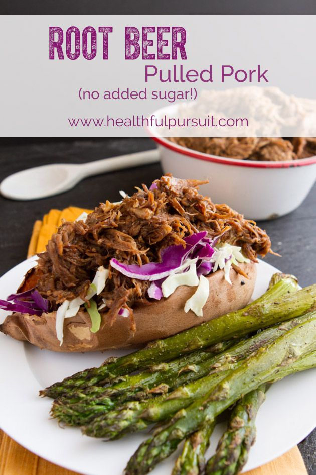 6-Ingredient Root Beer Slow Cooker Pulled Pork #paleo #glutenfree #dairyfree