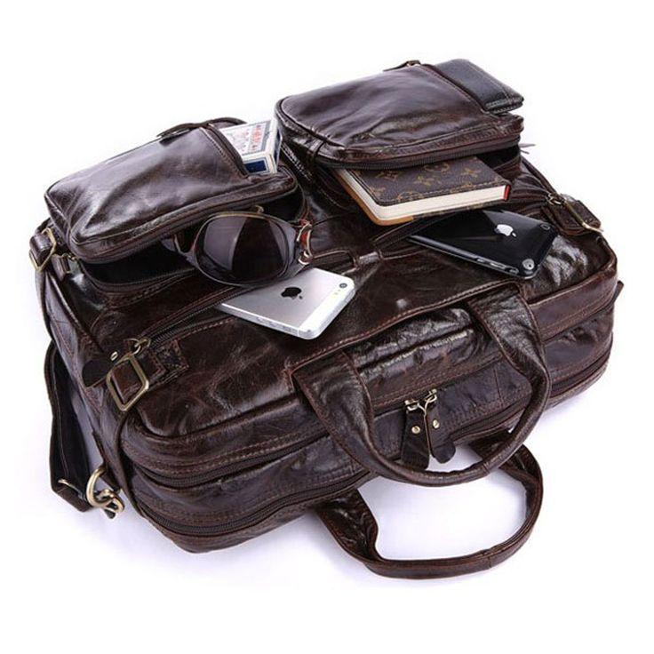 J.M.D-Zaino Uomo-Borsa a spalla-Multifuzioni-Borsa-Cartella degli uomini-Vintage-Cuoio Genuino-Messenger Laptop Bag --2014 Nuovo Dimensioni : 38cm x 12.5cm x 29cm: Amazon.it: Valigeria