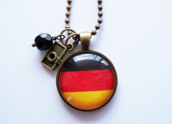 Flag of Germany Necklace  German Flag  You Choose by OxfordBright