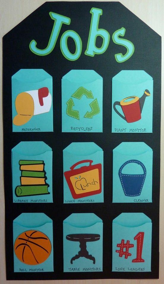 takenbord klas pinterest posts classroom job chart and love this. Black Bedroom Furniture Sets. Home Design Ideas
