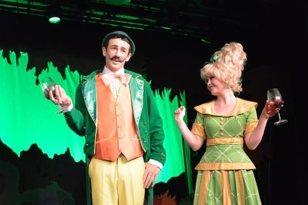 "The Mayor of Whoville (Bryan Fraser) and his wife (Ally Graydon) in Tesoro High School's ""Seussical."""