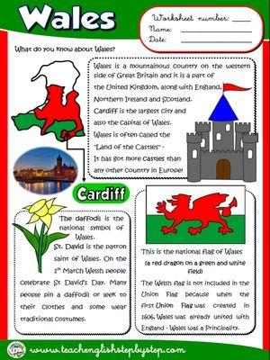 Wales - Worksheet