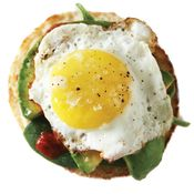 Baby Spinach, Avocado + Sriracha Egg Sandwich