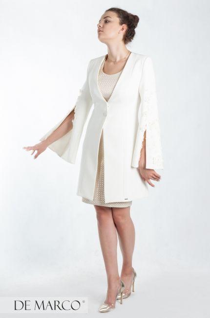 9f463fe01a Płaszcz do sukienki w kolorze écru