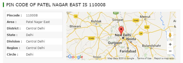 What is the pincode number list of Patel Nagar East Central Delhi area, district, region, circle, division, zone, sector, state of Delhi, India. Pincodeofindia.in provide search option to find post office postal code, pin code in very easy way.