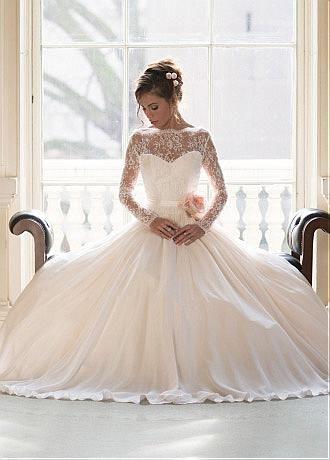 Элегантный атласный шифон Bateau Neckline A-line свадебные платья с цветком ручной работы