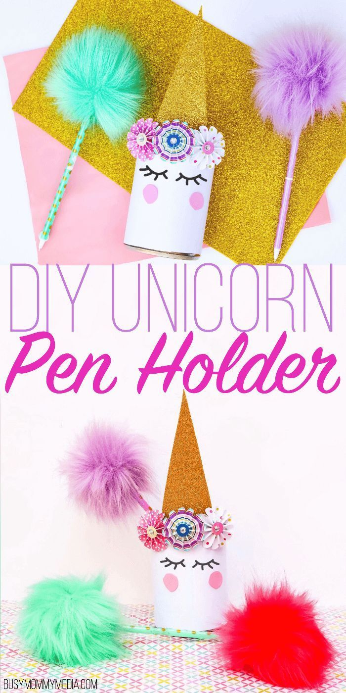Diy Unicorn Pen Holder This Diy Project For Kids Is Super Cute