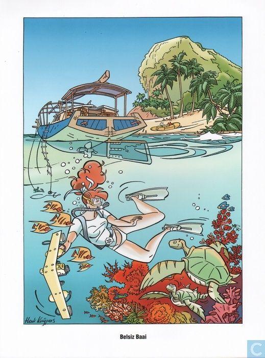 Ex-Libris BD et tirages - Tiré à part - Stranden - Belsiz Baai Franka