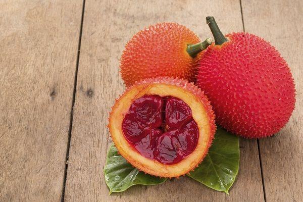 Gac / Fruta del Cielo / Calabaza conchinchín (Sureste de Asia).