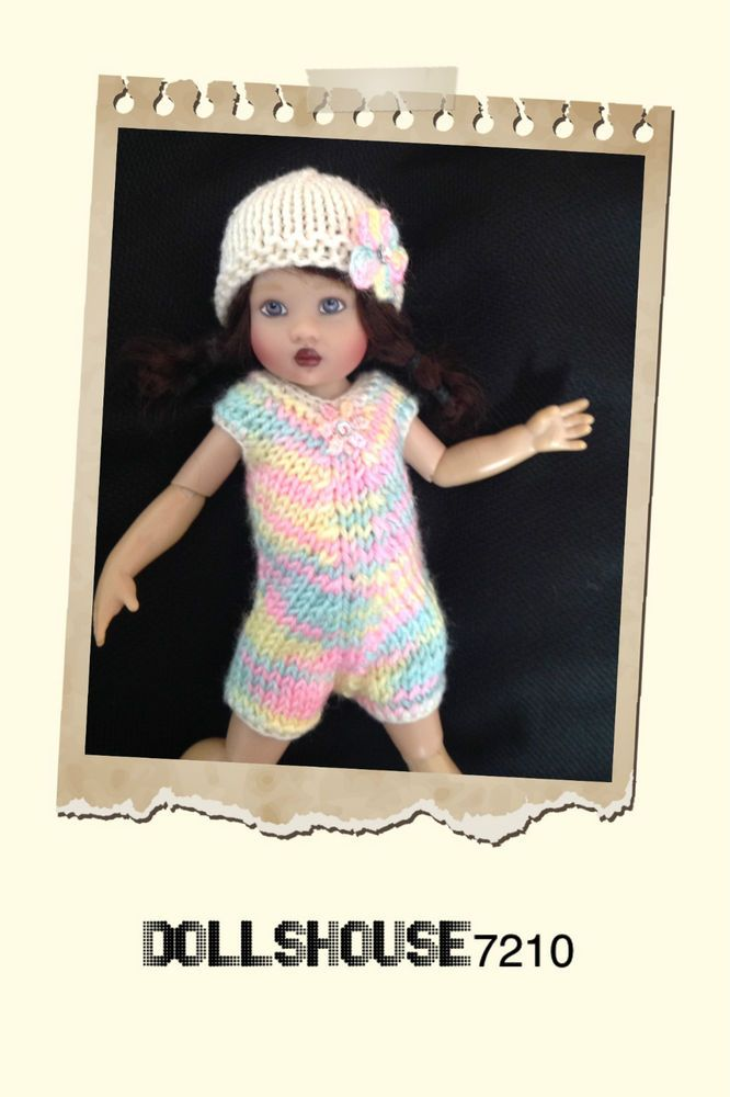 """Hand Knitted 2 Pieces outfit for 7.5-8"""" Kish Riley Helen Kish,Tonner BJD 