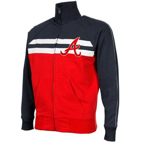 '47 Brand Atlanta Braves Game Day Full Zip Track Jacket - Red
