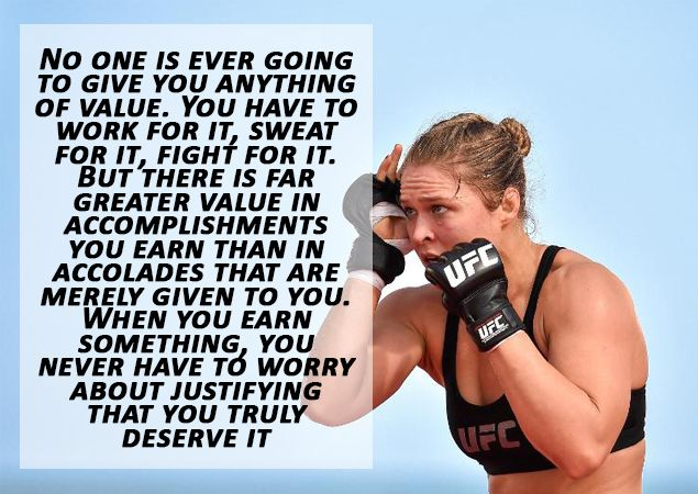 ROUSEY quote https://www.theironden.com