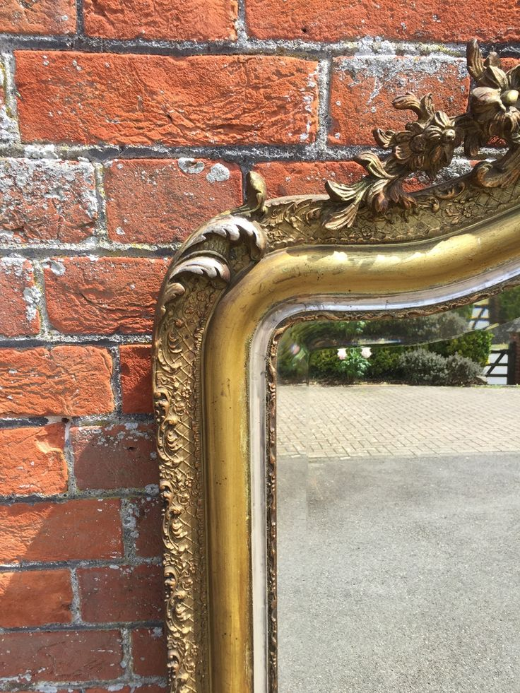 A Superb Large Antique 19th Century French carved wood & gesso original silver/gilt Mirror