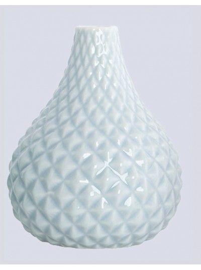 Glazed Small Vase Pale Blue