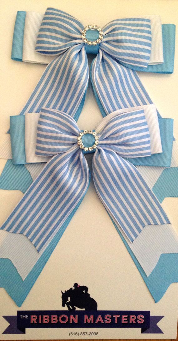 Striped Equestrian Hair Bows