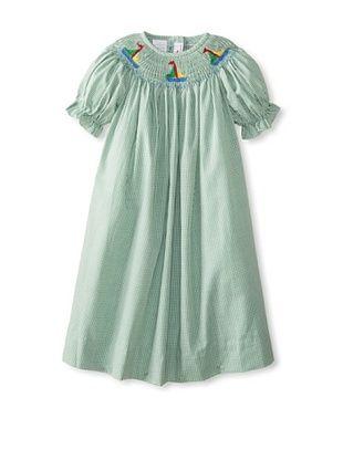 64% OFF Vive La Fete Kid's Sailboat Smocked Bishop Dress (Green)