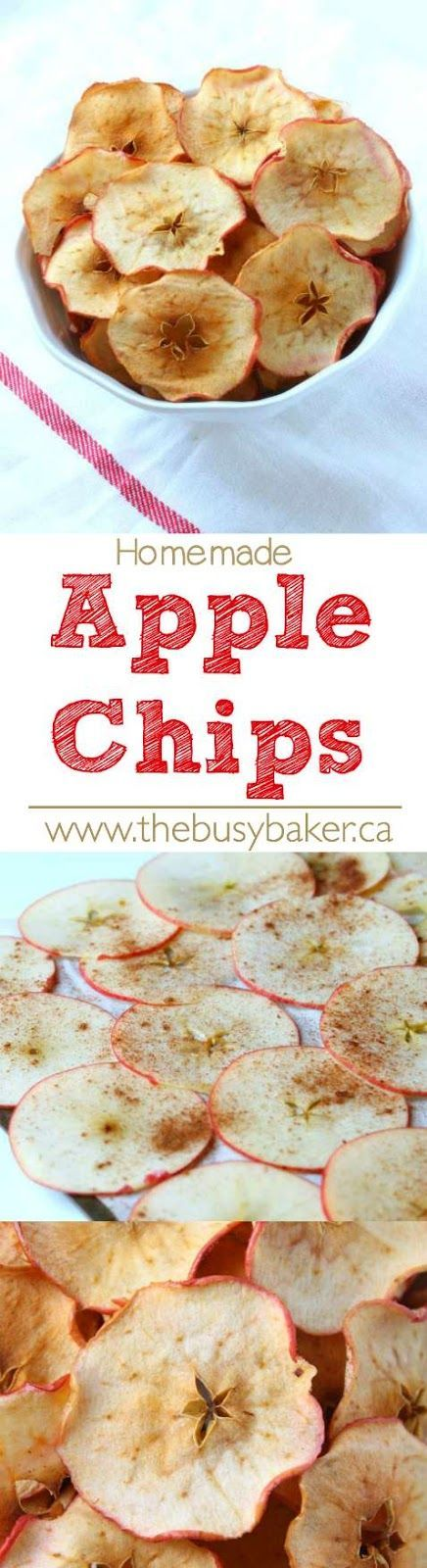 These Homemade Apple Chips are the perfect Spring Break snack for kids! Recipe from thebusybaker.ca