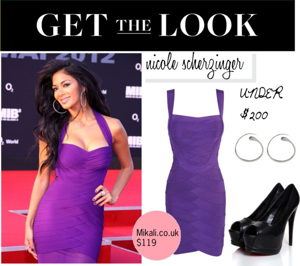 """The Look for Less: Nicole Scherzinger"" by mikalifashion ❤ liked on Polyvore"