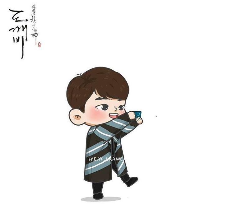 #goblin #kdrama #korean #korea #koreandrama #grimreaper #euntak #gongyoo #cute #animated #chibi #fanart #sunny