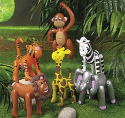 Having a jungle or zoo theme birthday party? Then Inflatable Zoo Animals make great party favors for the kids! You could get a lion, giraffe, monkey, elephant, zebra, or tiger in your order. Inflatable Zoo Animals make fantastic party decorations, too.