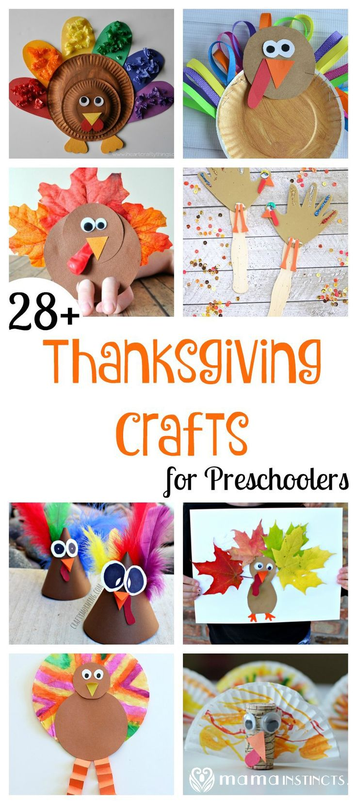 Try these fun and easy Thanksgiving crafts for preschoolers: all kinds of turkeys, hats and even leaf coloring. All sorts of thanksgiving kid activities to keep your kids busy.