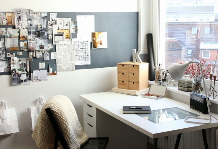white, grey black workspace | Karyna, So Leb' Ich