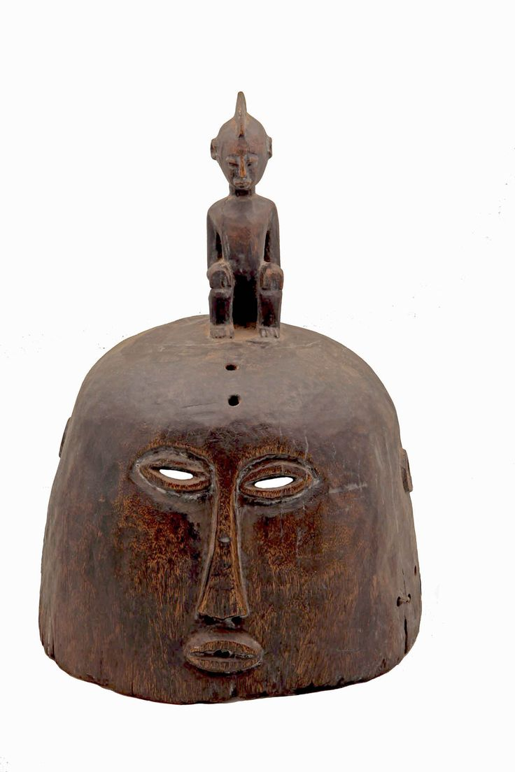 A very important mask.  It's from the border of Mali with Guinea Conakry, western Africa.  It is around 40-45 cm high.  It is a sorcerer's and  healer's mask  and it worn by the shaman-healer when there is a healing ritual or a ritual to cast a demon out of a possessed person etc.  Wooden.