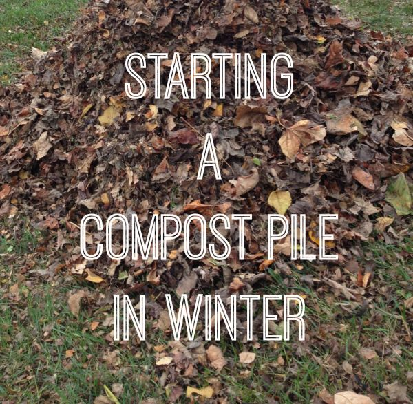 Composting – How to Get Started in winter. This is a great read for beginner composters. I use a large storage container with a lid as my compost bin. Holes are drilled in the sides (Not The Top). I keep a small bucket in the kitchen to collect compost while on the go. Every few days I dump in into the bin and stir with a shovel. -E-