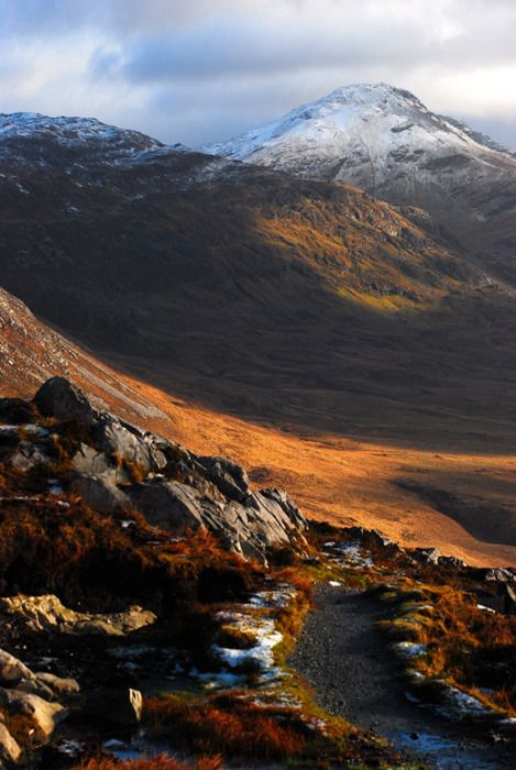 Just north of Galway, Ireland is the region of Connemara. Here, Irish Gaelic is the first language and the landscape is rugged and striking.