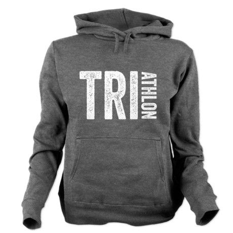 Triathlon Women's Hooded Sweatshirt #fitness #exercise #motivation