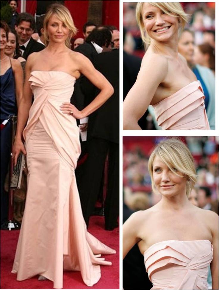 Mi look favorito de Cameron Diaz.  Cameron Diaz en Dior – Oscar 2008